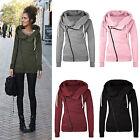 Women Zipper Hooded Slim Fit Sweater Jacket Coat Sweatshirt Winter Warm Coat USA