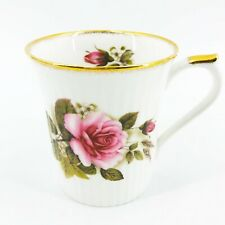 Royal Heritage Bone China Tea Coffee Cup Pink Roses Made in England Gold Trim