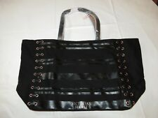 Victoria's Secret Black Weekender Tote Bag Purse Limited Edition Black NWT