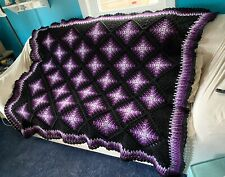 Celestial Shades Of Purple Afghan Throw Bedspread - Ready To Ship