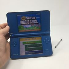 Nintendo DSi Xl System Midnight Blue In Great Condition w/ New Super Mario Bros