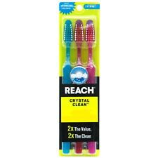 3 PACK Reach Toothbrush Extra Clean FIRM Bristles Hard - FREE SHIPPING!