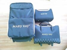 Mary Kay 3 Piece Rolling Luggage Set, Black & Pink, Very Rare Largest Size!
