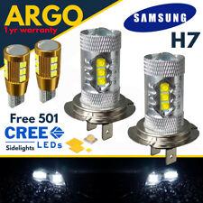 H7 Cree 8500k Xenón Blanco Cuero Faro Delantero Luces Luz 100w Bombillas 501 30