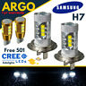 H7 Super White Cree 12v Dipped Headlight Bulbs 501 30 Smd Led Canbus Sidelights