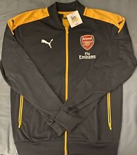 Puma Arsenal Charcoal Stadium Full-Zip Jacket. Adult Size: Medium, Large