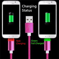 Smart LED Mobile Phone Cable USB Data Sync Fast Charging Light Micro USB Type-C-