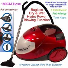 Water Filter Wet&Dry Vacuum Cleaner Blower Industrial Grade Bagless Anti-Allergy