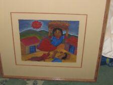 Roman Andrade Llaguno  Oaxaca  Magical Woman  27 x 24 frame 11.5 x 13.5 IMAGE