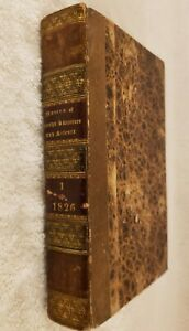 """Antique 1826 Leather Book """"Museum Of Foreign Literature and Science Vol. VIII"""""""