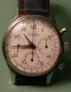 LeCoultre E335  17 jewel three register chronograph Valjoux 72, stainless steel
