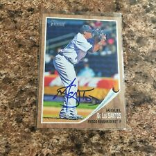 Miguel De Los Santos Signed 2011 Topps Heritage Minor League Auto Texas Rangers
