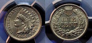 1864 Copper Nickel Indian Head Cent 1c PCGS MS 64