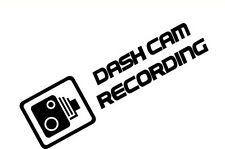 2x Dash Cam Grabación Cctv advertencia Funny pegatina de vinilo Laptop parachoques Ventana Jdm
