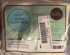 American Baby Company 100% Cotton Value Jersey Knit Cradle Sheet, Ecru
