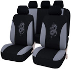 Dragon Pattern Car Seat Covers Full Set Front Bucket Seat Covers With Split For