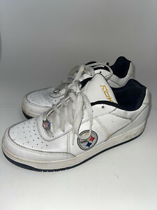 Reebok Men's NFL Pittsburgh Steelers Athletic Running Shoes White Size 11