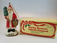 Holiday Memories Collector Ornament Santa Collectible 1880 Edition Reproduction