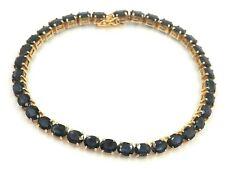 Stunning Women's Sapphire Bracelet 14ct Yellow Gold Jewellery Length: 18cm