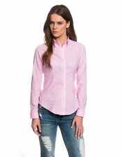 Women's Business Cotton Hip Length No Pattern Tops & Shirts
