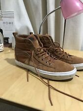 e542dee8e9 VANS Hi-Top Brown leather Suede Mens Skateboarding Scotchgard Protector Sz  11.5