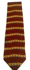 Haggar Gold Brown Blue Diamond Design Men's Necktie Neck Tie Silk USA