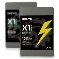 """Drevo X1 120GB SSD Internal Solid State Drive 2.5"""" SATA III R 550MB/S W 400MB/S"""