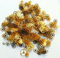 Steampunk Watch Parts 15g Gears Cogs Wheels Assorted Lot Industrial Altered Art