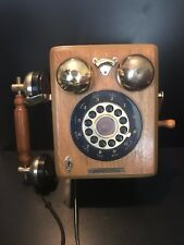 Thomas Collector'S Edition Replica 1927 Wood Wall Phone Push Button Limited Ed