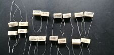 More details for 16x nos vintage  polypropylene capacitors various values 333pf to 2710pf