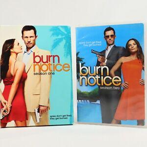 Burn Notice Season 1 2 Bundle Crime TV Series Drama DVD R1 Good Condition