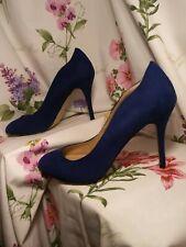 Fiore Blue Faux Suede Court Shoes New Size 7 Eur 41