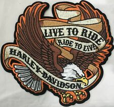Harley Davidson Live to Ride Eagle Medium Patch EM009393