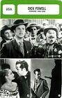 Actor Card. Fiche Cinéma Acteurs. Dick Powell (U.S.A.) Période 1940-1958