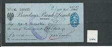 WBC. - ASSEGNO-ch1146-Usato -1945 - BARCLAYS Bank, DERBY