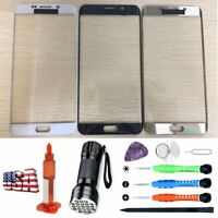For Samsung Galaxy S6 Edge Plus Replacement Front Screen Glass UV Light Tool Kit