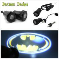 2 Pcs 3D Batman Badge Vehicle Door Step Welcome LED Projector Lights Ghost Lamps