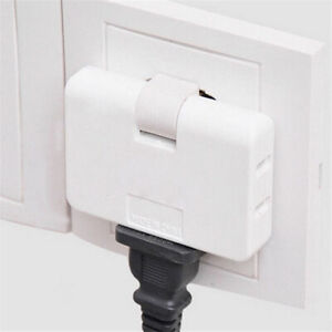 3 Outlet Grounded AC Power 2 Prong Swivel Light Wall Tap Adap IF