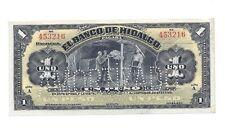 Mexican Revolution Banco de Hidalgo 1 Peso Banknote Mexico Peso Currency Money