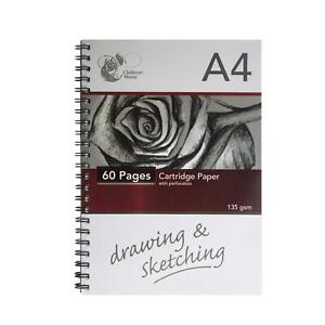 Sketch Book Artist Drawing Pad Spiral White Cartridge A4 Paper Home Craft