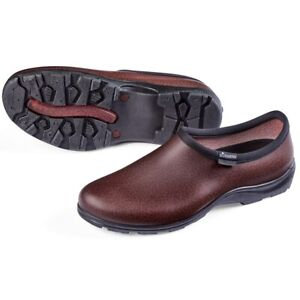 Outdoor Slip-On Mens Brown Leather-Like Finish Sloggers Waterproof Garden Shoes
