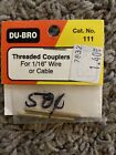 DUB111 Threaded Couplers For 1/16th Wire Or Cable