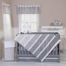 Trend Lab 100494 Ombre Gray 3 Piece Crib Bedding Set NEW