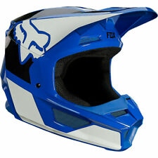 Fox Racing Adult Mens V1 REVN MX Motocross Off Road Helmet Blue