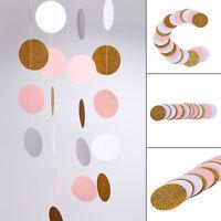Glitter Circle Polka Dots Garland Banner Bunting Party Decor UK