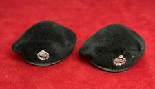 2 X Dragon 1/6 Scale WWII British Tank Crewman Terry Davies Beret & Cap Badge
