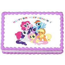 """MY LITTLE PONY Edible Cake Image Decoration Topper   -7.5""""x10"""""""