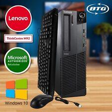 Lenovo Desktop Computer Intel i5 QUAD CORE 8GB RAM 240GB SSD Windows 10 Pro PC