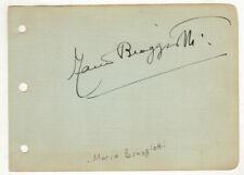 Mario Braggiotti Cut Signature! Autograph! Pianist! Composer! George Gershwin!