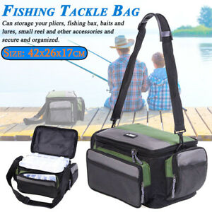 Large Fishing Tackle Bag Pack Outdoor Waist Shoulder Tote Lure Storage Bags Box